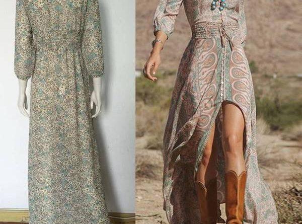 robe longue femme azteque pas cher