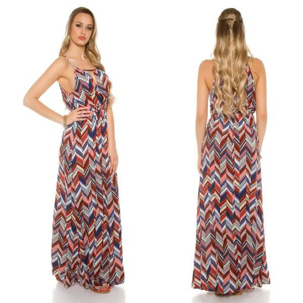 robe longue en mousseline
