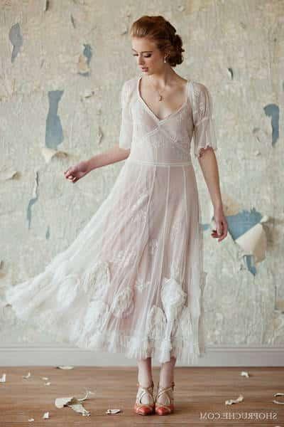 robe à pois vintage pas cher