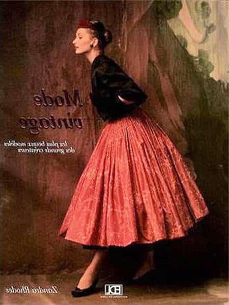 robe vintage à pois