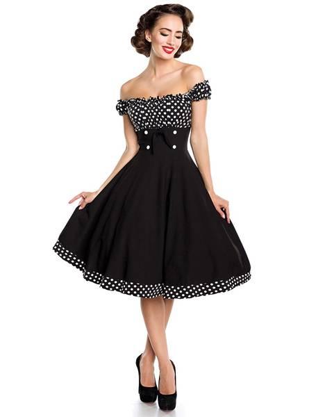 robe pin up noir pois blanc