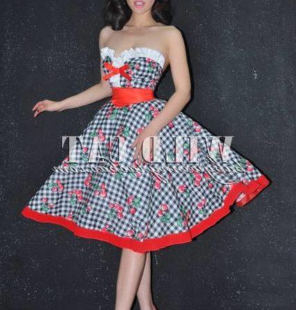 Timormode Retro Vintage Robe Annees 50 S Style Audrey Hepburn Rockabilly Swing Plisse Robe De Soiree