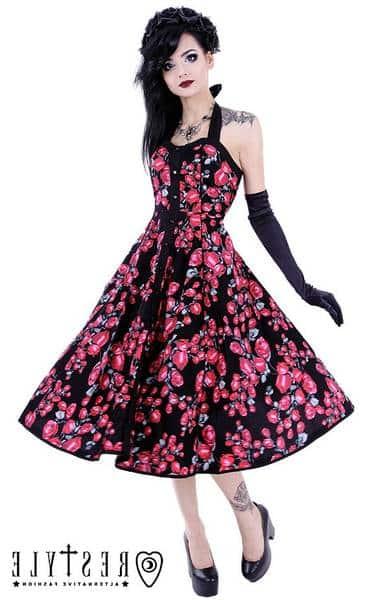 Vixxsin Rockabilly Vintage Minirobe Robe d/'été robe-presque dress