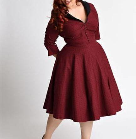 Bbonlinedress Robe Femme Elegante Vintage Pin up Ann/ées 1950s de Soir/ée Cocktail pour Mariage Invit/é