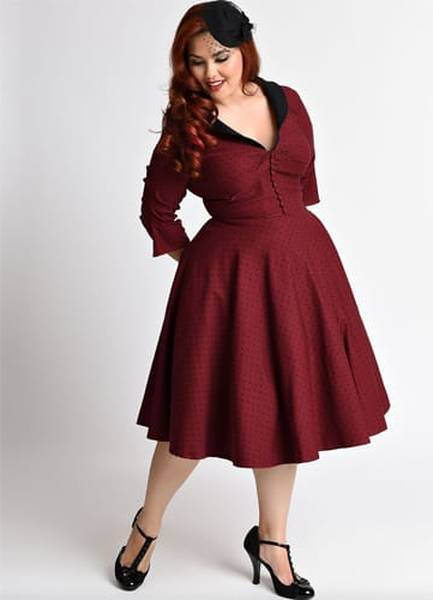 robe pin up rose rouge