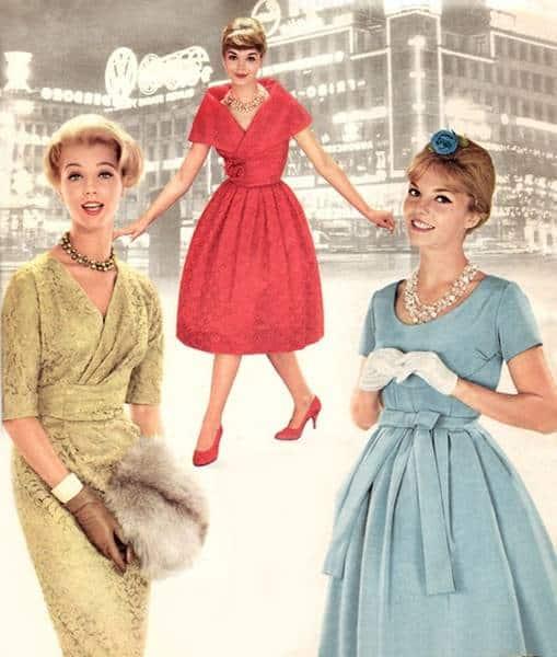 robe années 60 femme
