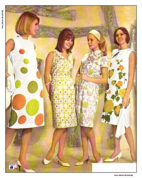 patron robe années 60 gratuit