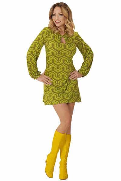 robe rysca flower années 70 manches évasées