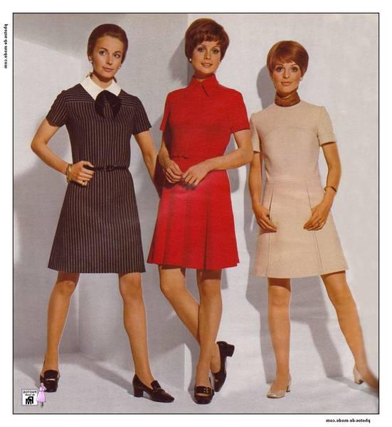 robe années 70 femme