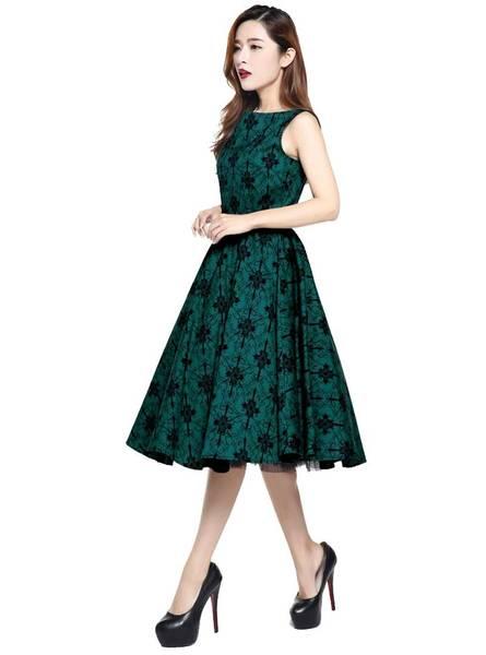 robe cocktail années 50 60 rétro