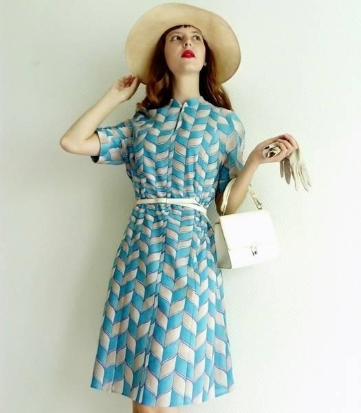robe verte années 60