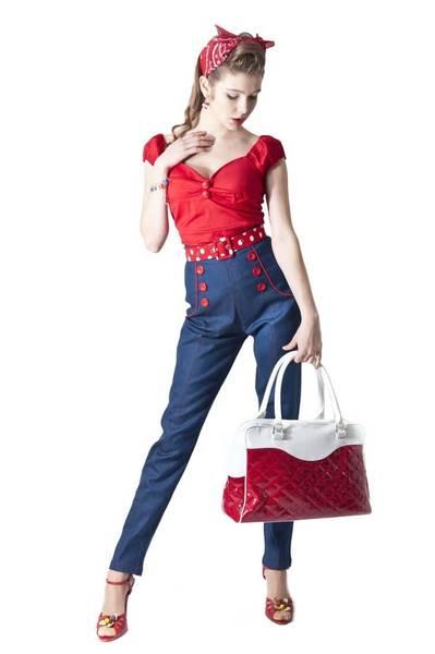 robe rouge vintage annees 50