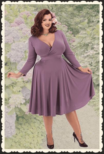 robe bleue années 50
