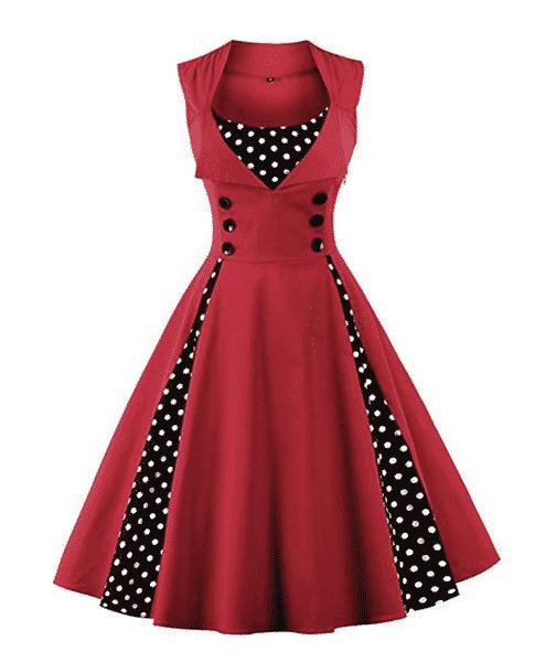 robe vintage années 80