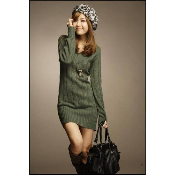 comment porter la robe pull en laine
