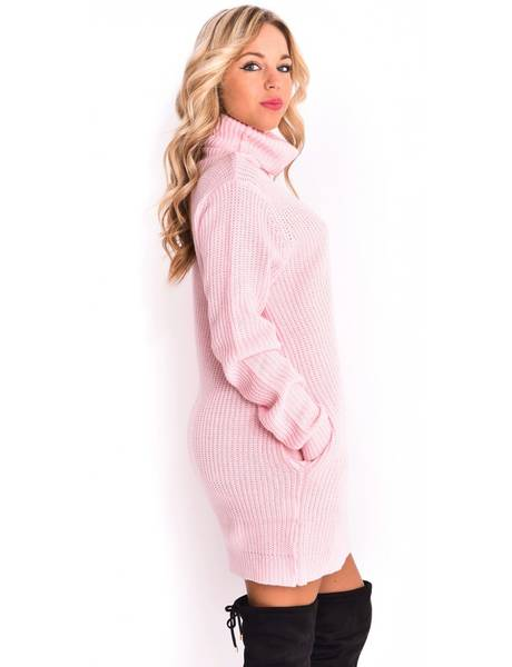 robe pull col roule manches longues