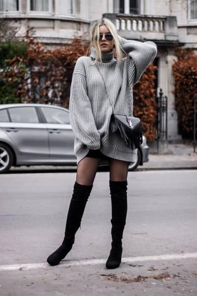 robe pull longue noire