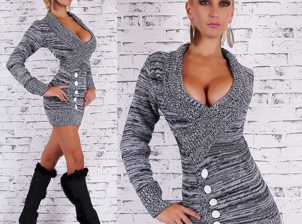 Robe pull noir look ou robe gros pull Les dupes
