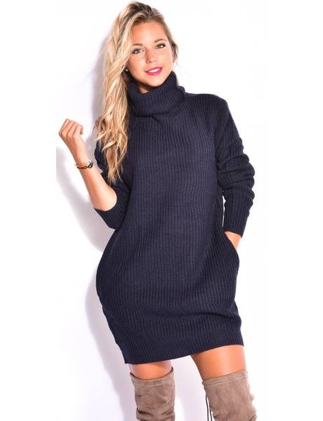 robe pull grosse maille pas cher
