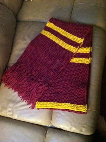 comment tricoter une écharpe harry potter
